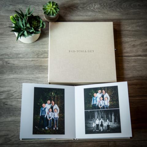 Nos souvenirs en albums, coffrets, boîtes ou encore en tirages encadrés