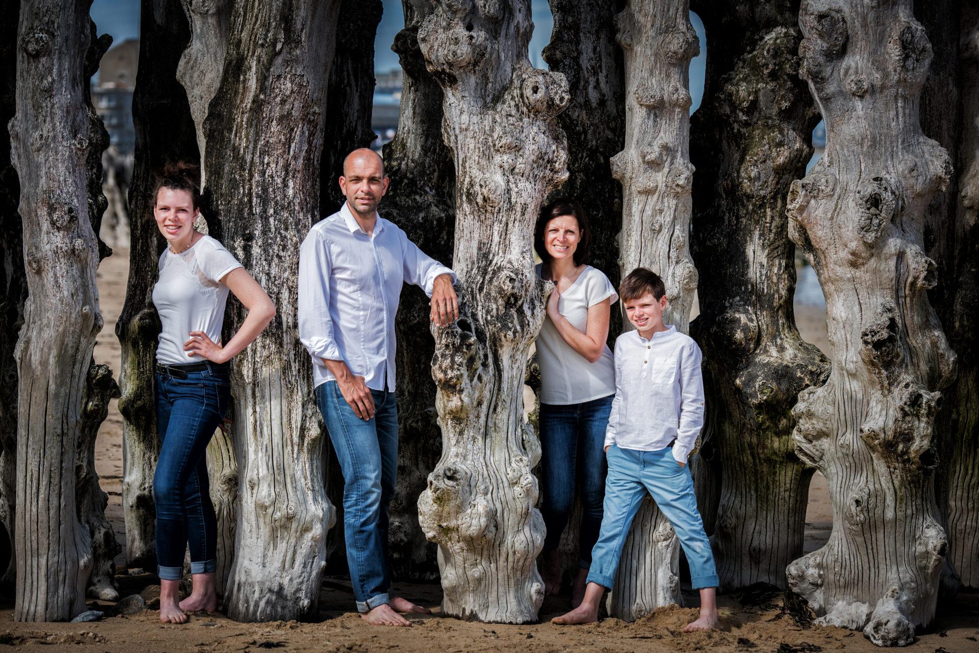 Photo de famille en extérieur