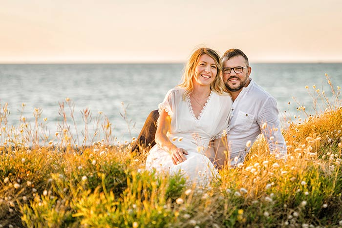 Une séance photo en amoureux près du Cap Fréhel.